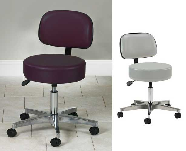 Pneumatic Stool with 5 Legs and Contour Backrest
