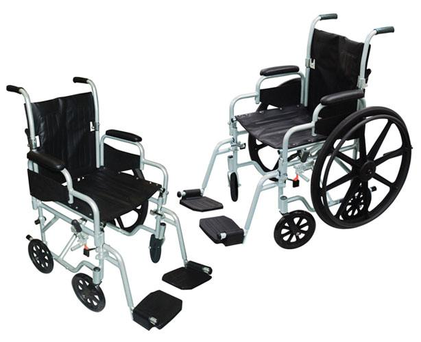 Poly-Fly Lightweight Wheelchair & Flyweight Transport Chair