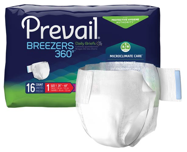 Prevail Breezers 360 Adult Briefs, Ultimate Absorbency