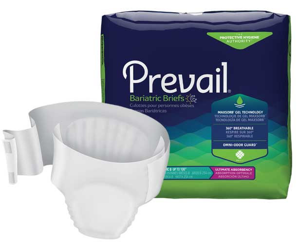 Prevail Incontinence Products Prevail Bariatric Briefs