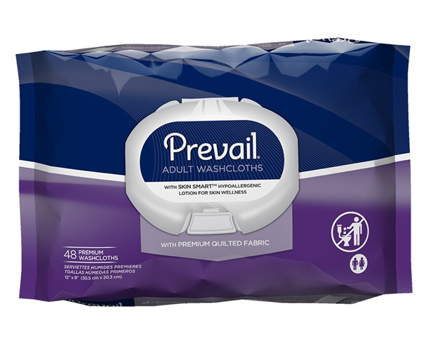 Prevail Incontinence Products Prevail Premium Cotton Washcloths