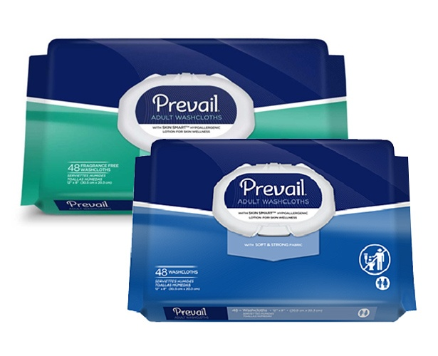 Prevail Incontinence Products Prevail Washcloths - Adult Sized