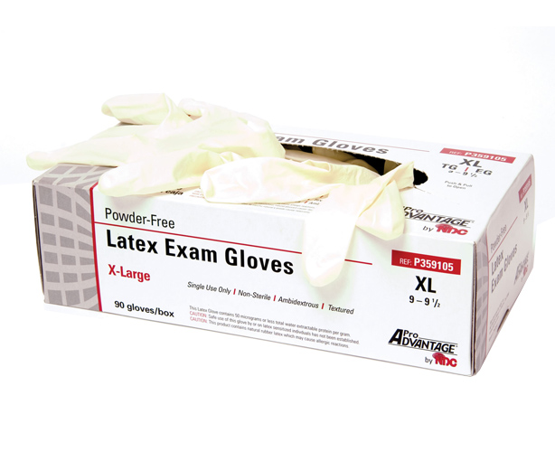 Pro-Advantage Powder Free Latex Exam Gloves