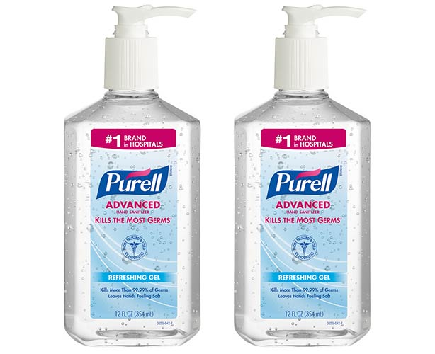 Purell Instant Hand Sanitizer, 12 oz Pump Bottles