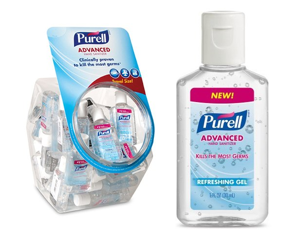 Gojo Purell Advanced Instant Hand Sanitizer, 1oz Bottles