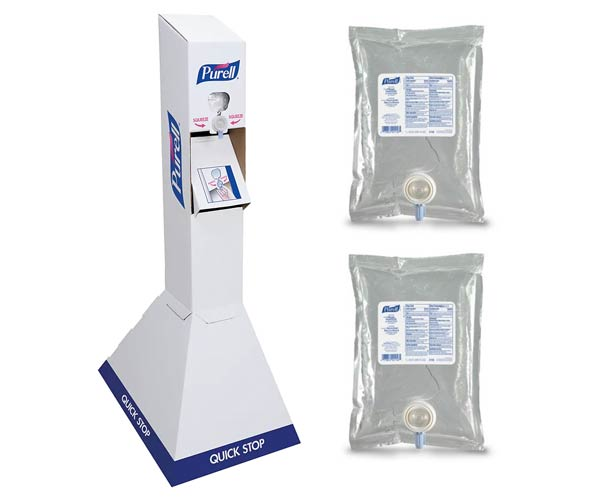 Gojo Purell Hand Sanitizer Quick Floor Stand with 2 Liter Refills