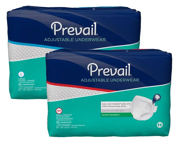 Prevail Incontinence Products Prevail Super Absorbent Adjustable Underwear