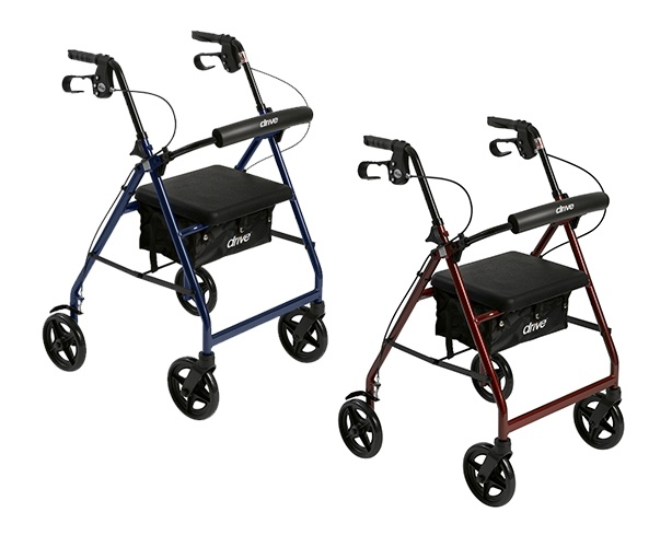 Drive Medical Aluminum Rollator Rolling Walker