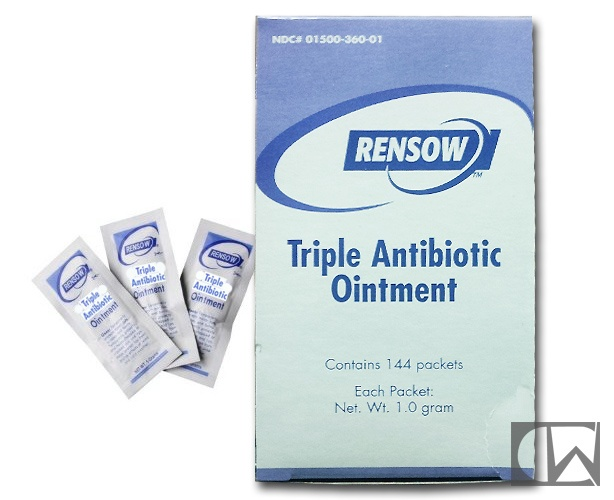 Rensow Triple Antibiotic Ointment, 1 gm Foil Packs