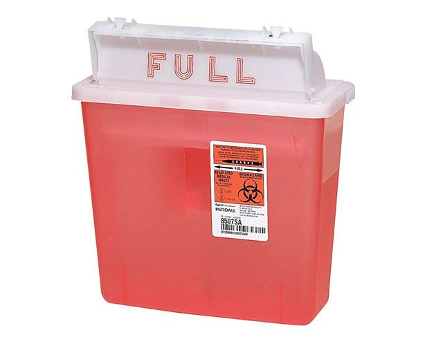 IN-ROOM Sharps Container, 5 Quart with Sharpstar Lid