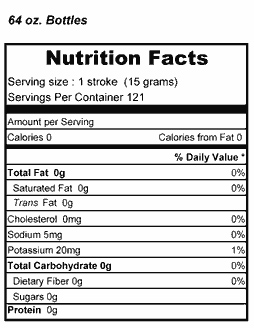 Simply Thick Nutrition Profile for 64 oz Bottle