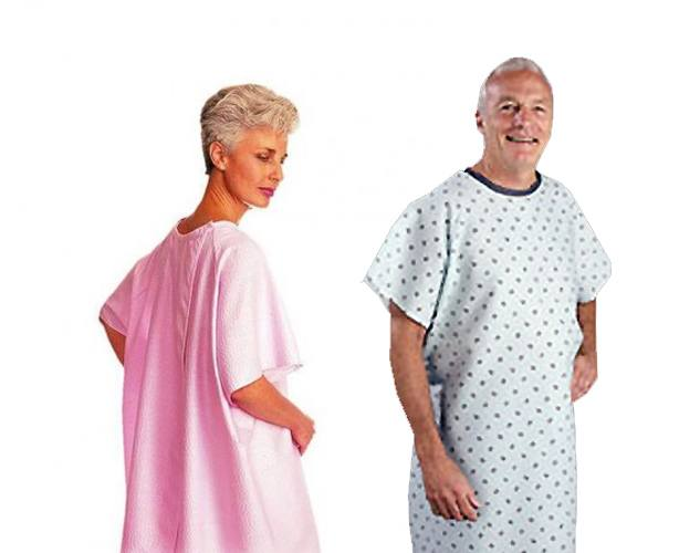 SnapWrap Deluxe Adult Patient Gown