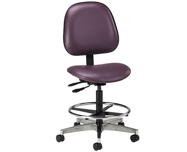 Clinton Industries Stool with Adjustable Contour Backrest