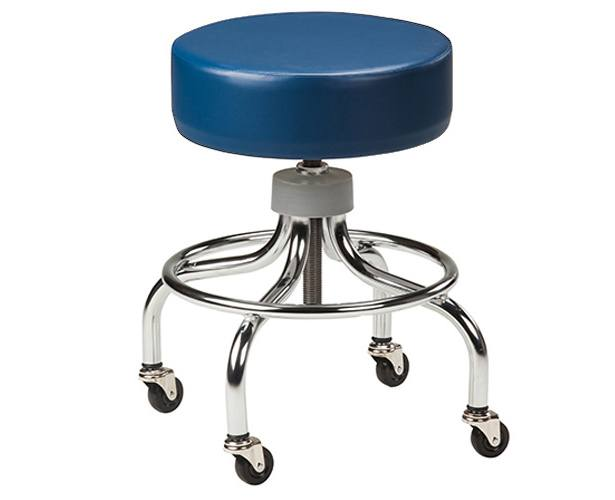 Clinton Industries Stool with Chrome Base and Round Footring
