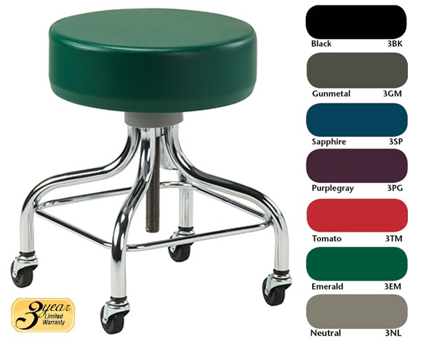 Stool With Chrome Base And Square Footring Clinton