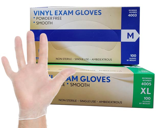 Strong Vinyl Gloves, 4000 Series