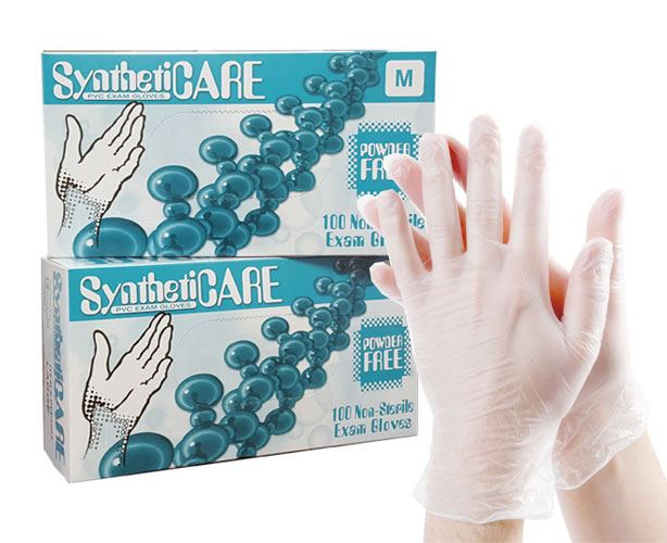 Emerald Gloves Syntheticare Vinyl Powder-Free Exam Gloves