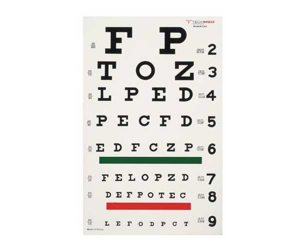 Dukal Tech-Med Snellen Eye Chart