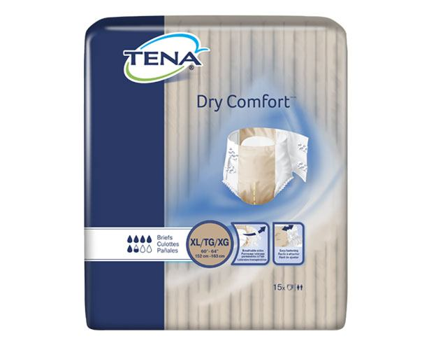 TENA Incontinence Aids TENA Dry Comfort Adult Briefs