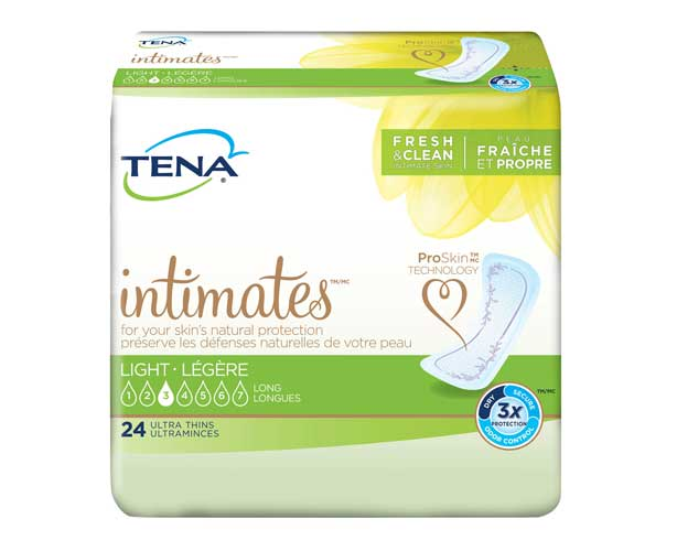 TENA Incontinence Aids TENA Serenity Intimates Ultra Thin Pads, Light, Long