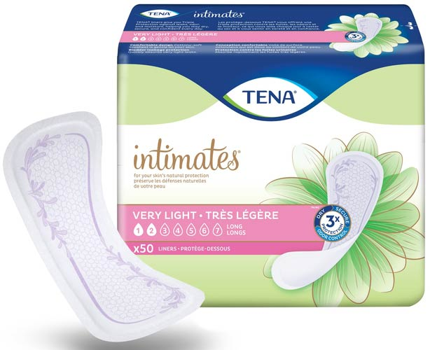 TENA Incontinence Aids Tena Intimates, Very Ligt & Long Liners