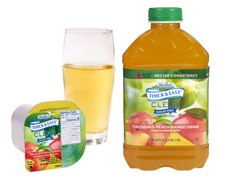Hormel Health Labs Thick & Easy Thickened Peach Mango Drink, Sugar Free