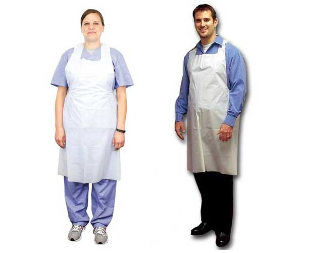 TIDI Products Tidi Disposable Poly Aprons, Ultra-Lightweight