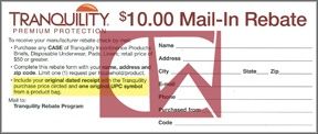 Tranquility $10.00 Mail-In Rebate