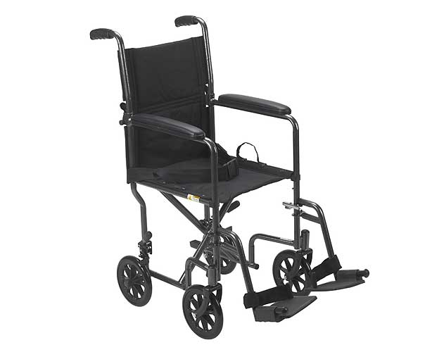 Drive Medical Go-Kart Transport Chair, Chrome