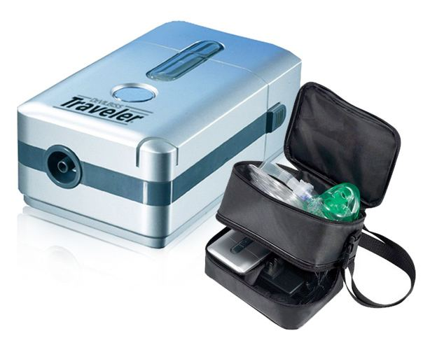 Drive Medical DeVilbiss Traveler Portable Compressor Nebulizer System