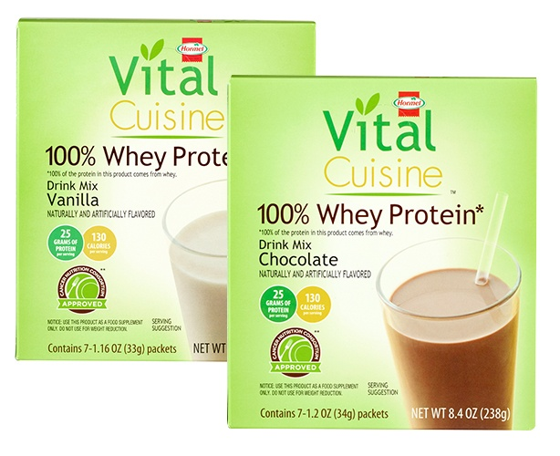 Hormel Cancer Nutrition Vital Cuisine 100% Whey Protein Shake Mix