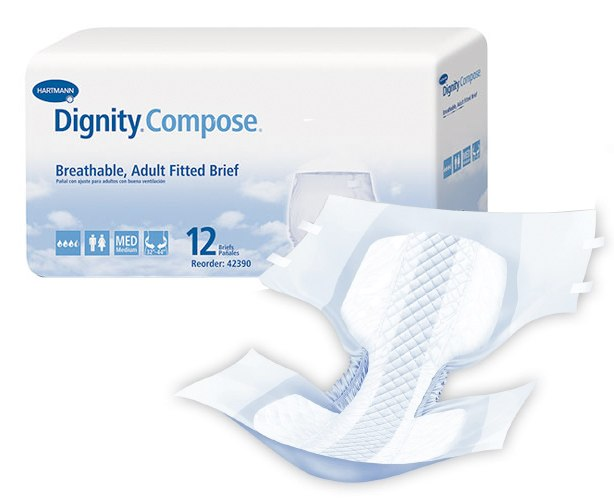 Hartmann USA Dignity Compose Cloth-Like Adult Diapers