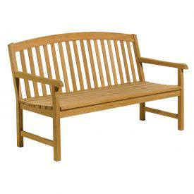 A wooden bench shows part of our NY State contract for group 21510 which consists of outdoor and site furniture.