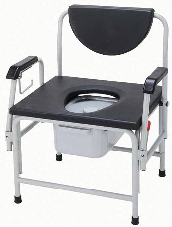 Drive Medical Heavy Duty Drop Arm Commode, 850 lb Capacity