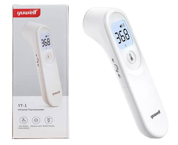 Yuwell Yuwell Infrared Thermometer, No-Touch, Digital